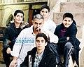 Fatima Sana Shaikh, Aamir Khan, Sanya Malhotra, Suhani Bhatnagar, Zaira Wasim on the sets of Dangal.jpg