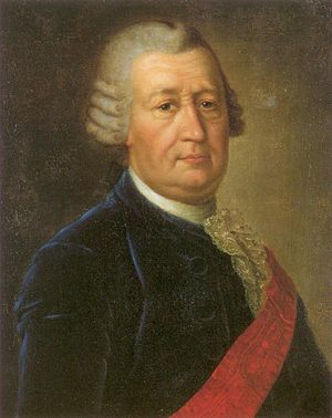 Fedor Ivanovich Soimonov - Oil portrait of Fedor I. Soimonov around 1750