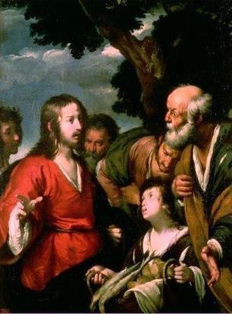 Feeding the multitude - Feeding the multitudes by Bernardo Strozzi, early 17th century.