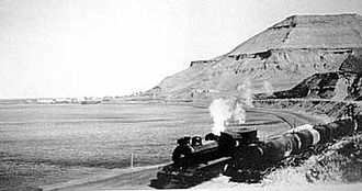 Comodoro Rivadavia Railway - A train arriving to Km. 3.