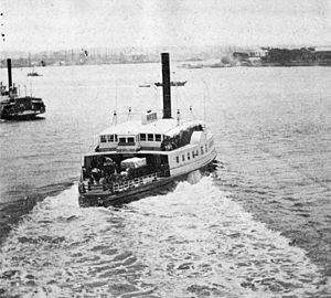 USS Hunchback -  Hunchback in commercial service as a New York ferry, 1859, prior to her conversion into a gunboat in 1862