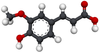 Ferulic acid - Image: Ferulic acid 3D