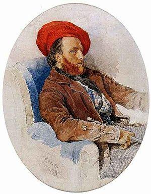 Frigyes Feszl - Portrait of Frigyes Feszl by Sterio Károly, 1847