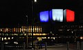 Finlandia Hall illuminated with French tricolore.jpg