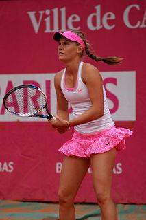 Fiona Ferro French female grand slam tennis player