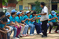 Fire-making - Survival Programme - Summer Camp - Nisana Foundation - Sibpur BE College Model High School - Howrah 2013-06-09 9683.JPG
