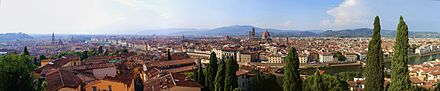 Panorama composite, overview of Firenze, taken from the Giardino Bardini viewpoint. Firenze panorama from the Giardino Bardini.jpg