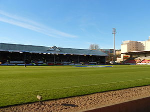 Firhill Stadium - View of the Colin Weir Stand (left) and the North stand (right)