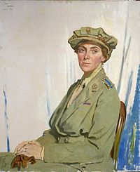 Erster Chief Controller des Queen Mary's Army Auxiliary Corps (QMAAC) in Frankreich, Dame Helen Gwynne-Vaughan, GBE.  Art.IWMART3048.jpg