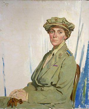 Helen Gwynne-Vaughan - Portrait by William Orpen, 1918