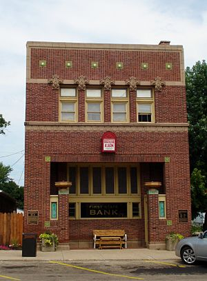 National Register of Historic Places listings in Bureau County, Illinois - Image: First State Bank of Manlius