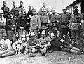 First World War, tableau, dog, men, uniform, armband, carabiner, helmet, firefighter Fortepan 4690.jpg
