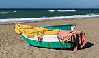 Fishing boats, morning, Beach, Rincon de la Victoria, Andalusia, Spain.jpg
