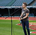 Five-time Grammy nominee Hunter Hayes performs his national anthem soundcheck, hours before Game 6 of the World Series. (30679508686).jpg