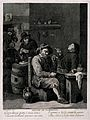 Five Flemish men, old and young alike, smoke and drink in a Wellcome V0019042.jpg