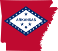 Flag-map of Arkansas.svg