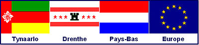Flag combination of Tynaarlo, Drenthe, the Netherlands and Europe - French names.jpg