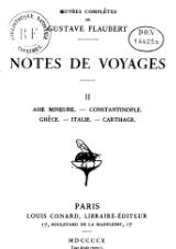 Flaubert - Notes de voyages, II.djvu