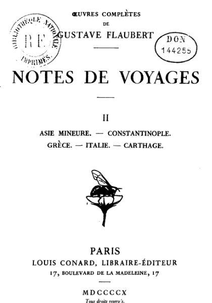 File:Flaubert - Notes de voyages, II.djvu