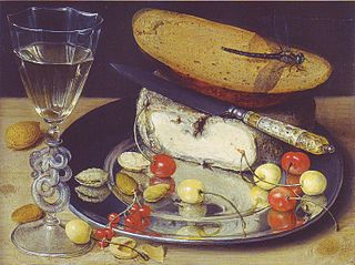 Still Life with Cheese and Cherries