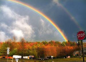 Saylorsburg, Pennsylvania - Rainbow near PA 33