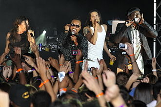 Apl.de.ap - The Black Eyed Peas in Paris during The E.N.D. Tour.