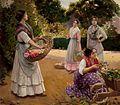 Floristas en el Parque de María Luisa (Museo de Bellas Artes de Sevilla).jpg
