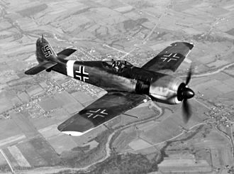 Combined Bomber Offensive - Fw 190 single-engine fighter targeted by Pointblank.