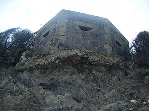 Folly Pier - World War II Pillbox near Folly Pier.