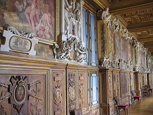 Detail of the decoration of the Gallery of Francis I