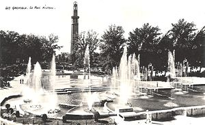 Paul Mistral Park - Fontaine and water basin in 1925