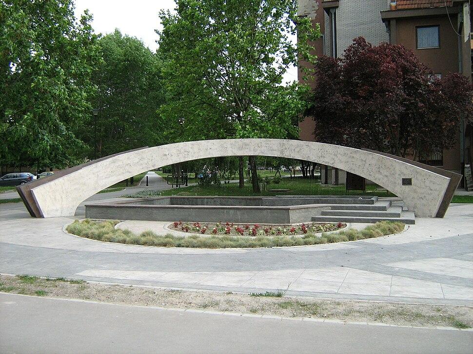 Fontana ispred Panonske banke