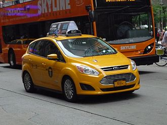 Hybrid taxi - Ford C-Max Hybrid taxi in New York City