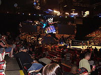 Variations of the SmackDown! fist and mirrors set were used from August 16, 2001 - January 18, 2008.