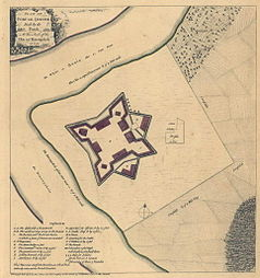 Map of Fort Duquesne around 1754