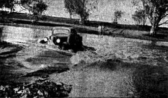 Fortescue River - Fortescue in flood 1942