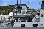 Forward funnel & boat davit of JS Fuyuzuki(DD-118) right side view at JMU Maizuru Shipyard April 13, 2019.jpg