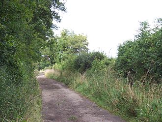 Fosse Way - Section of the Fosse Way as a byway north of the M4