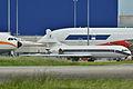 Four legendary aircrafts Airbus A300B1 F-WUAB - MSN 238 - Aérospatiale BAc Concorde F-WTSB - MSN 201 Aerospatiale SE-210 Caravelle 12 F-BTOE - MSN 280 Airbus A380-800 F-WXXL - MSN 002 (9878498835).jpg