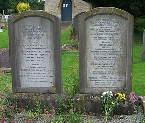 Henry Fox Talbot - Fox Talbot family grave in Lacock village churchyard