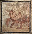 Fragment of wall painting with erotic scene, from Pompeii, Naples National Archaeological Museum (17297674306).jpg