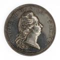 Framsida av silvermedalj, 18 storleken, präglad med anledning av Gustav IIIs död 29 mars 1792 - Skoklosters slott - 99549.tif