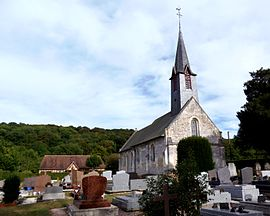 The church in Fierville-les-Parcs