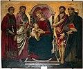 Francesco botticini (attr.), Madonna col Bambino, tra i ss. Lorenzo, Bartolomeo, Giovanni Battista e Antonio Abate, 01.jpg