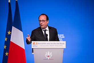 François Hollande - Hollande during a meeting in Carcassonne in May 2015
