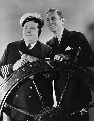 Lanny Ross - Ross (at right) on the Maxwell House Show Boat radio program in 1935