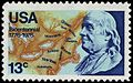 Franklin 1776 Bicentennial 13c 1976 issue.JPG