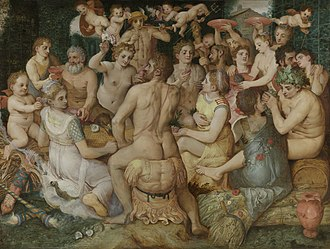 1550 in art - Floris – Banquet of the Gods, Royal Museum of Fine Arts, Antwerp