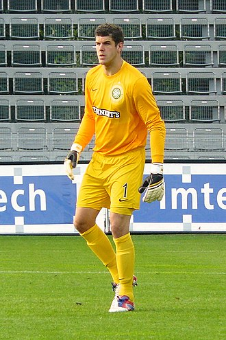 Fraser Forster - Forster playing for Celtic in 2012