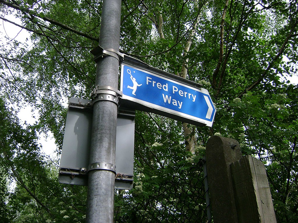 Fred Perry Way sign